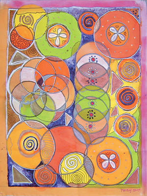 Circles Within Circles Art Print by Mandy Simpson