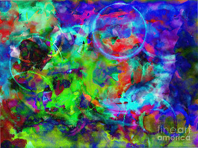 Digital Art - Circles Within Circles by Meghan at FireBonnet Art