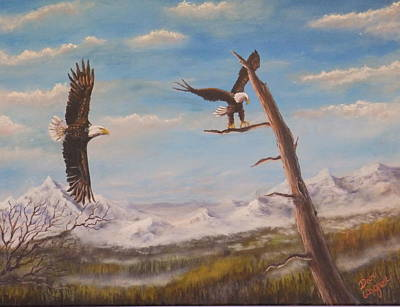 Painting - Circling Eagle by Dan Wagner