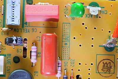 Soldered Photograph - Circuit Board by Ashley Cooper