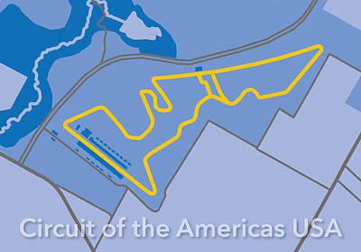 Printed Circuit Digital Art - Circuit Of The Americas Usa by Big City Artwork
