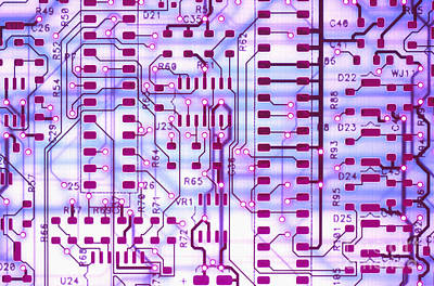 Circuit Trace II Art Print by Jerry McElroy