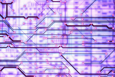 Circuit Trace Art Print by Jerry McElroy