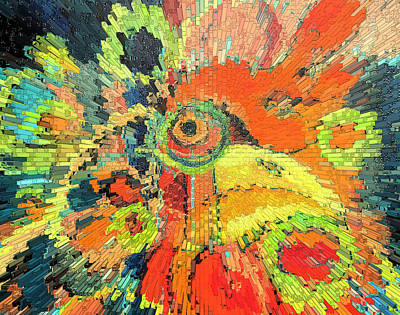 Painting - Circular Chicken Depth by Jeff Seaberg