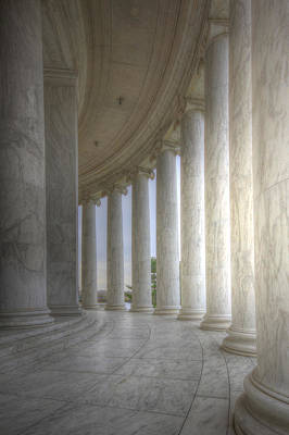Politicians Royalty-Free and Rights-Managed Images - Circular Colonnade of the Thomas Jefferson Memorial by Shelley Neff