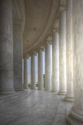 Circular Colonnade Of The Thomas Jefferson Memorial Art Print by Shelley Neff