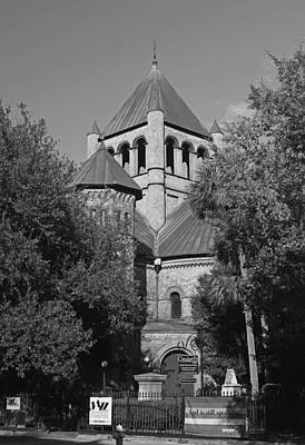 Photograph - God Still Speaks - Circular Congregational Church In Black And White by Suzanne Gaff
