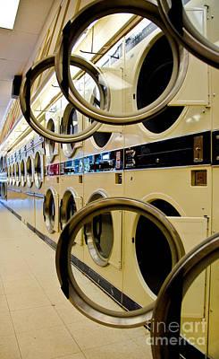 Washing Machine Photograph - Circular Doors On Laundromat Washing Machines by Amy Cicconi