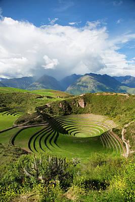 Cusco Photograph - Circular Inca Terraces Of Moray, Cusco by Douglas Peebles