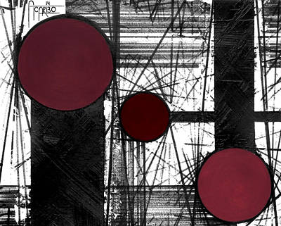 Lines Mixed Media - Circular Lines by Andres Carbo