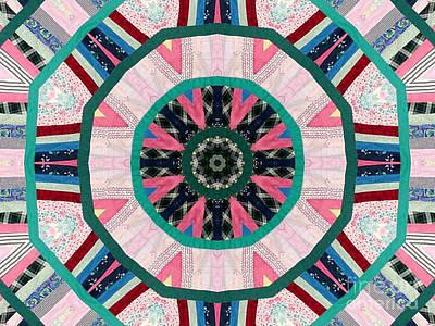 Circular Patchwork Art Art Print by Barbara Griffin