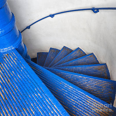 Photograph - Circular Staircase At Arecibo Lighthouse In Puerto Rico by Bryan Mullennix