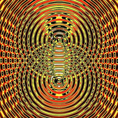 Circular Wave Interference Art Print by Russell Kightley