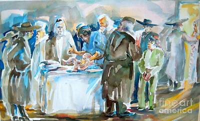 Jewish Humor Painting - A Belated Father's Day by Shirl Solomon