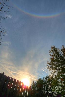Photograph - Circumzenithal Arc Rainbow by Deborah Smolinske