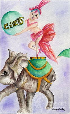 Painting - Circus Elephant by Tamyra Crossley