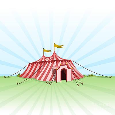 Circus Entertainment Tent Art Print by Vitezslav Valka