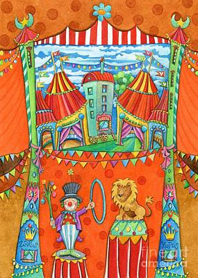 Sweet Clown Painting - Circus Kupus by Sonja Mengkowski