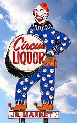Circus Liquor Print by Ron Regalado