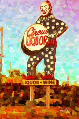 Wall Art - Digital Art - Circus Liquor by Ryan Cosgrove