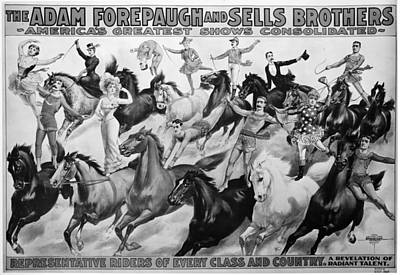 Painting - Circus Poster, 1900 by Granger