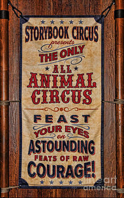 Custom Ring Photograph - Circus Poster by Lee Dos Santos