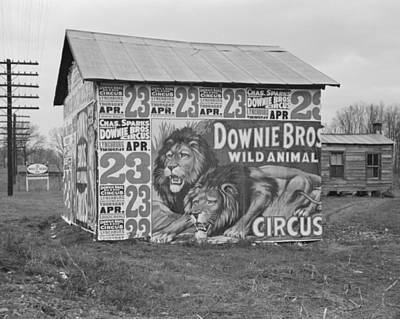 Photograph - Circus Posters Covering A Building Near Lynchburg by Historic Photos