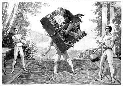 Circus Strongmen Art Print