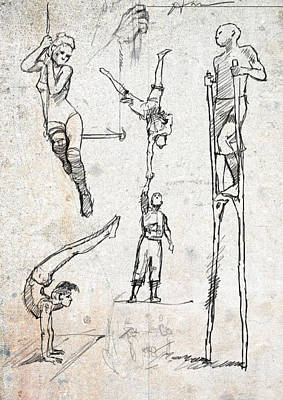 Circus Studies Art Print by H James Hoff