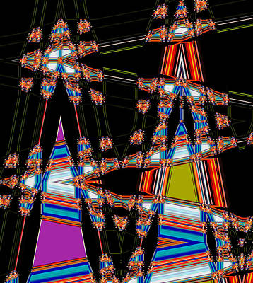 Circus Time Double Triangles Art Print