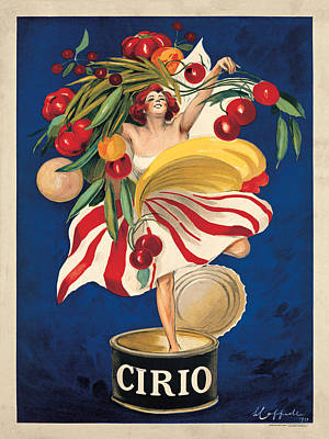 Canned Fruit Painting - Cirio by Leonetto Cappiello