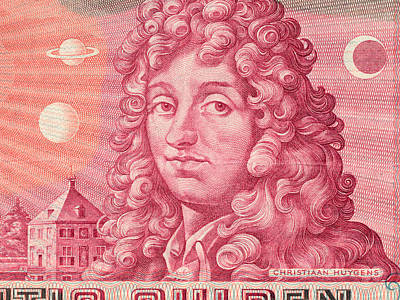 Drawing - Christiaan Huygens 25 Gulden by Nop Briex
