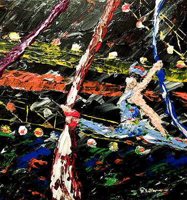 Mark Moore Painting - Cirque Du Soleil Silks by Mark Moore