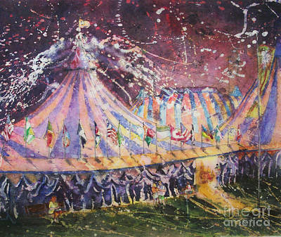 Painting - Cirque Magic by Carol Losinski Naylor