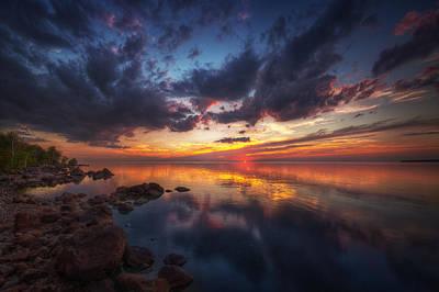 Photograph - Cirrus Reflections by Stuart Deacon