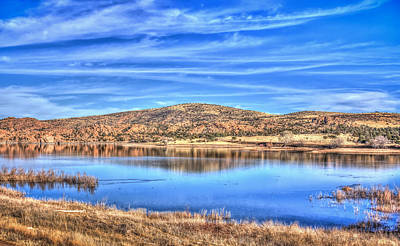 Cirrus Skies At The Lake Art Print by Aaron Burrows