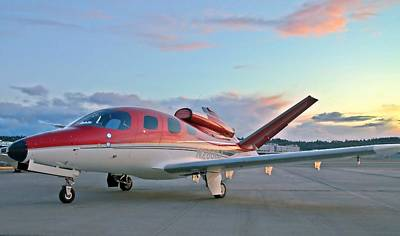 Art Print featuring the photograph Cirrus Vision Sf50 by Jeff Cook