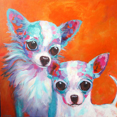 Painting - Cisco And Babe by Jennifer Croom