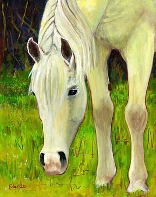 Horse Art Painting - Cisco Sees Horse Art by Blenda Studio