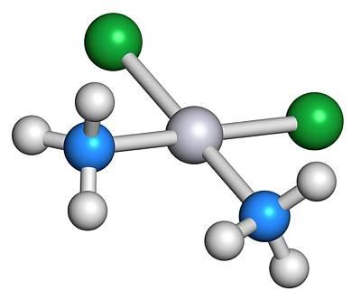 Molecule Photograph - Cisplatin Cancer Drug Molecule by Molekuul