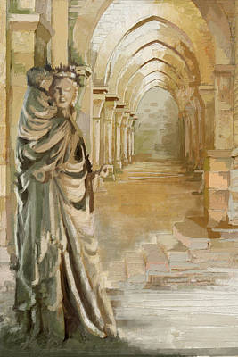 Chartre Painting - Cistercian Abbey Of Fontenay by Catf