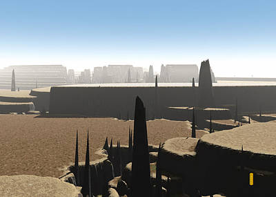 Digital Art - Citadel by David Jenkins
