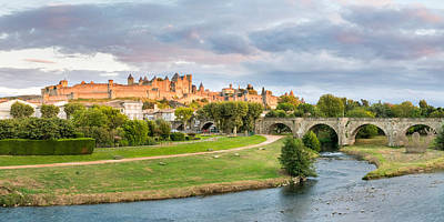 Cite De Carcassonne Seen From Pont Art Print by Panoramic Images