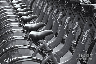 Photograph - Citi Bike Bicycles II by Clarence Holmes