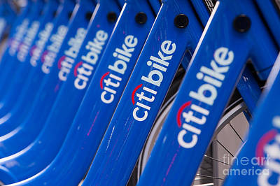 Photograph - Citi Bike Bicycles IIi by Clarence Holmes