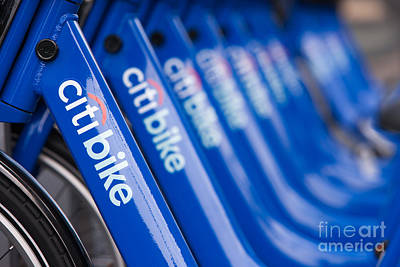 Photograph - Citi Bike Bicycles V by Clarence Holmes