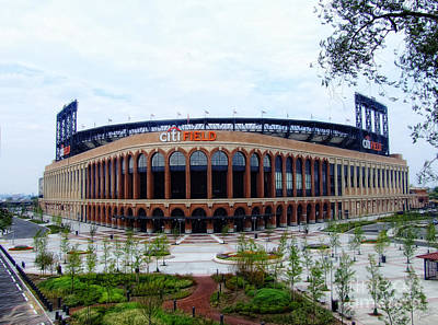 Shea Stadium Photograph - Citi Field Baseball Stadium by Nishanth Gopinathan