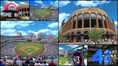 Photograph - Citi Field Collage by Allen Beatty