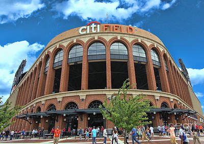 Photograph - Citi Field Entrance Rotunda by Allen Beatty