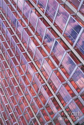 Photograph - cities architecture abstract photography - Blue Skies Red Skies by Sharon Hudson